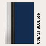 Behangfarbe kobaltblau für PVC-Schnelllauftore
