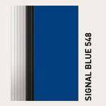 Behangfarbe signalblau für PVC-Schnelllauftore