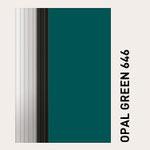 Behangfarbe opalgrün für PVC-Schnelllauftore