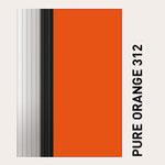 Behangfarbe orange für PVC-Schnelllauftore