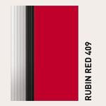 Behangfarbe rubinrot für PVC-Schnelllauftore