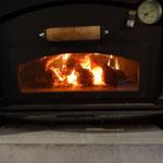 Brennraum im Backofen