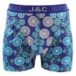J&C 237 limoen boxer blauw
