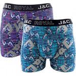 J&C 241 bliksem boxer 2-pack  turquoise en paars