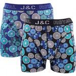 J&C 237 limoen boxer 2-PACK blauw en zwart