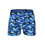 Grand Man 5043 army boxer legerprint blauw