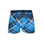 Grand Mand ruit boxer turquoise