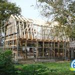 Fachwerk, Wohnhaus mit Mansarddach im Wendland, Zimmerei 862 GmbH