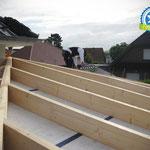Wintergartenanbau mit sichtbarem Dachstuhl in Rastede, Zimmerei 862 GmbH