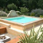 margelle de piscine en pierre de taille