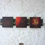 MARCELINO / Triptyque / Technique mixte L.170 cm