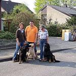 Bila und Alma mit Amigo,gen.Bolle, Maik und Heidi