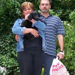 Aron mit Anja und Andreas