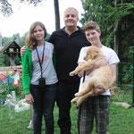 Cooper mit Familie
