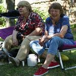 Christa und Gitte mit Geshe