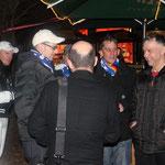 Jörg, Thorsten, Jens und Klaus beim warm up (v.l.n.r.)