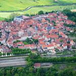 Flavigny-sur-Ozerain : vue aérienne