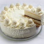 Raffaelosahne Torte - mit Batida de Coco abgeschmeckt