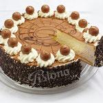 Pralinensahne Torte - mit zart schmelzendem Nougat
