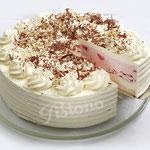 Eistorte - Erdbeer-Vanille mit Baiser