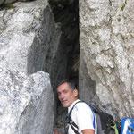 Ausstieg durch den einzigartigen Tunnel zum Naturfreundesteig