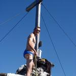 Nach dem Gipfelsieg geht's zum verdienten Bad in den Laudachsee