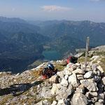 Blick vom Gipfel zum Almsee