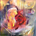 """Engergy 6"" 60x60 mixed media on canvas, sold"