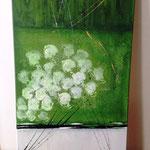 """""""Weisse Rosen"""", Acryl auf Leinwand - sie haben ihren Platz gefunden"""