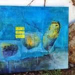 """Meer"", 70x80, Mischtechnik auf Leinwand, VERKAUFT - SOLD"