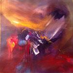 """Energy 1"" 60x60 Acryl auf Leinwand, sold in India"