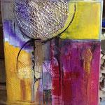 """ColourfulIII"" Collage auf Leinwand 80x70, sold"