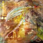 """""""Tanz der Elfen in der Nacht"""" - Acryl auf Leinwand, 80x70, VERKAUFT"""