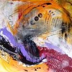 """I feel good"", Acryl auf Leinwand, 90x100, sold"