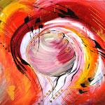 """""""Rot"""", Acryl auf Leinwand, 90x100, VERKAUFT"""