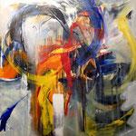 """Begegnungen 2"" 80x80 mixed media on canvas"