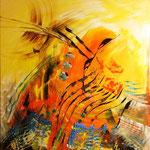 """Yellow Sea"" , Acryl auf Leinwand 90x100, verkauft"