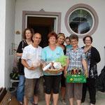 Familie Wimer Hüttau mit Sara, Kristina, Stefanie und Oma von Kristina