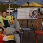 Birgit war bei den Samaritern am Areal tätig