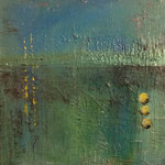 """""""Energie Grün/Blau"""", Acryl auf Leinwand, 60x60"""