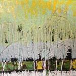 """Abstrakt Wald"", 40x60, Mixed Media auf Leinwand, verkauft"