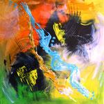 """Verwirbelt"", Acryl auf Leinwand, 60x60, sold"