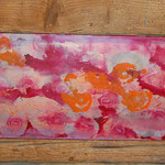 """Rosen"", Acryl auf Leinwand, 120x40"