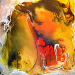 """""""Abstrakt 10"""" 2014 Acryl auf Leinwand, in Privatbesitz"""