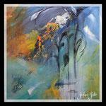 """""""Phantasy flowers"""" 60x60 on canvas acrylics"""