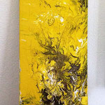 """""""Ohne Titel 3"""", Lack u. Acryl auf Leinwand, 40x80, zur Zeit in Naturpraxis Sabine Haslacher in Altenmarkt / Kärnten"""