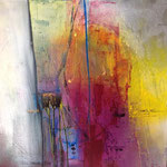 """ColourfulII""60x60x mixed Media auf Leinwand"
