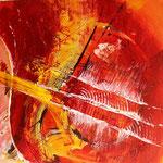 """Rot 2"" 60x60, Acryl auf Leinwand, sold"