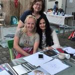 3 Künstlerinnen, Jolanta Mälzer, Rimute Balniene und Neerja Bhatt