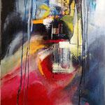 """Stadt in den Wolken"" mixed media 70x80, sold"